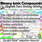 Distance Learning: Binary Ionic Compound Nomenclature {Dig