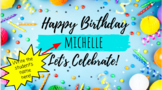 Distance Learning Birthday Writing Message Editable Google Slides