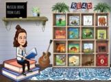 Distance Learning   Bitmoji Classroom: Interactive Musical Library (15 Books!)
