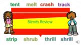 Distance Learning Blends Review PPT & Google Slides Unit 1