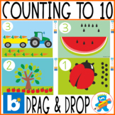 Distance Learning Boom Cards  4 Drag and Drop Counting to