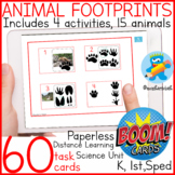 Distance Learning Boom Cards 4 activities to work Animal F