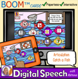 Distance Learning Boom™ Cards: Articulation Catch a Fish f