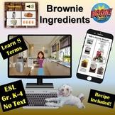 Brownie Ingredients Game   Printed Recipe   Boom Cards   D