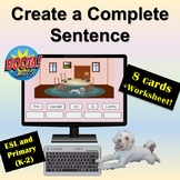 Distance Learning: Boom Cards | Create a Complete Sentence