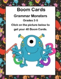 Distance Learning Boom Cards- Grammar Monsters -Grades 3-5