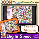 Distance Learning Boom™ Cards: I can find it! Articulation Spying Game