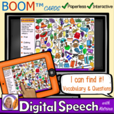 Distance Learning Boom™Cards: I can find it! Vocabulary &