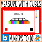 Distance Learning Boom Cards I can use cubes to measure, P
