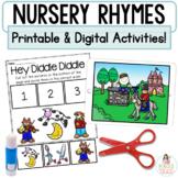 Nursery Rhymes   Boom™ Cards Digital and Printable Retell