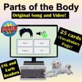 Distance Learning: Boom Cards | Parts of the Body | Song |