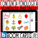 Distance Learning Boom Cards Phonological Awareness Spanis