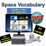 Distance Learning: Boom Cards | Space Vocabulary | ESL/Pre