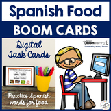Distance Learning Boom Cards | Spanish Foods Practice | La Comida