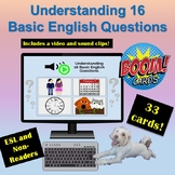Distance Learning: Boom Cards   Understanding 16 Basic Que