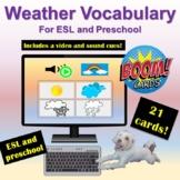 Weather Preschool ESL Video Sound Cues | Distance Learning
