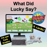 Distance Learning: Boom Cards | What did Lucky Say | Drag