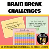 Distance Learning Brain Break Game | Google Slides
