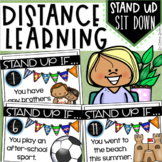 Distance Learning Brain Breaks Icebreakers Back to School Stand Up Sit Down
