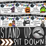 Distance Learning Brain Breaks Icebreakers Stand Up Sit Down Halloween