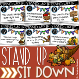 Distance Learning Brain Breaks Icebreakers Stand Up Sit Down Thanksgiving