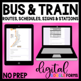 Distance Learning - Bus and Train Schedules, Routes & Signs - Life Skills