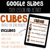 Distance Learning CUBES Strategy for Math Word Problems Di