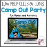 Distance Learning: Camp Out Party for Zoom or Google Meet