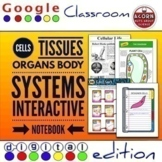 Distance Learning Cells, Tissues, Organs Google Drive Interactive Notebook