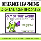 Distance Learning Certificates Google Classroom