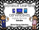 Distance Learning Certificates- Bilingual