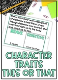 Distance Learning Character Traits Activity This or That D