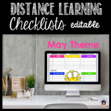 Distance Learning Checklists for MAY- Editable!