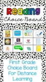 Distance Learning Choice Board: 1st Grade Reading