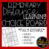 Distance Learning Choice Board for Elementary Grades