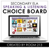 Distance Learning Choice Board for Speaking & Listening