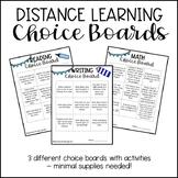 Distance Learning Choice Boards - Freebie