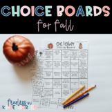 Choice Boards for Fall