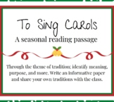 Distance Learning Christmas Close Reading Passage Multicul
