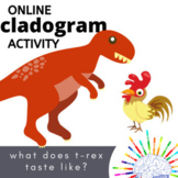 Distance Learning Cladogram Activity - What Did T.rex Tast