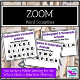 Distance Learning Class Game for ZOOM or Google Meet