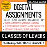 Distance Learning - Classes of Levers Digital Assignments