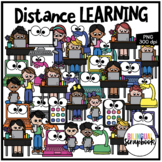 Distance Learning Clipart - Bilingual Scrapbook