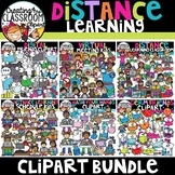 Distance Learning Clipart Bundle {Social Distancing Clipart}