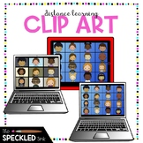 Distance Learning Clipart Set. Remote learning clip art te