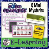 Distance Learning: Code Crackers - 6 Mysteries - Fully Digital
