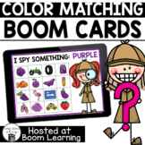 Distance Learning- Color Matching Boom Cards Deck for Preschool