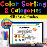 Distance Learning Color Sorting and Categories Boom Cards