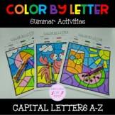 Distance Learning Color by Letter Summer Theme