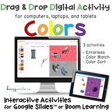 Colors Interactive Digital Activities on Boom Cards and Google Slides